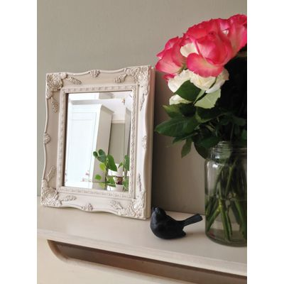 ivory ornate mirror 8x10
