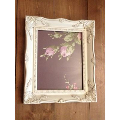 a4 ivory ornate picture frame
