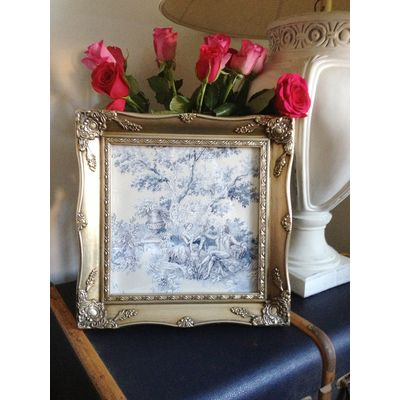 silver ornate picture frame 10x10