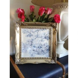 silver ornate picture frame 12x12