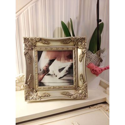 silver ornate picture frame 6x6