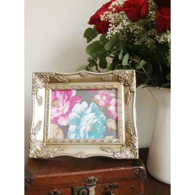 silver ornate picture frame 6x8