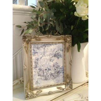 silver ornate picture frame 8x10