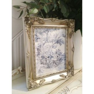 a4 silver ornate picture frame