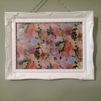 white ornate picture frame 11x14