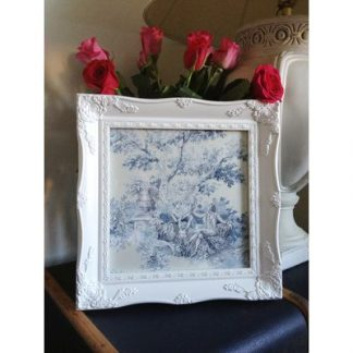 white ornate picture frame 12x12