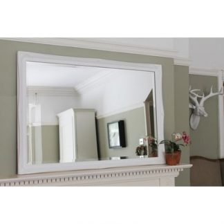 white ornate mirror 24x36