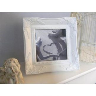 white ornate picture frame 6x6