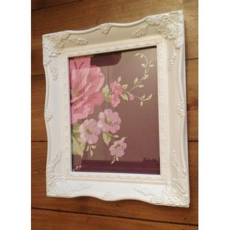 a4 white ornate picture frame