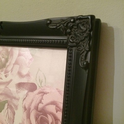 detailed black picture frame 10x12