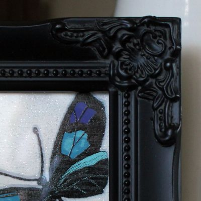 detailed black picture frame 4x4
