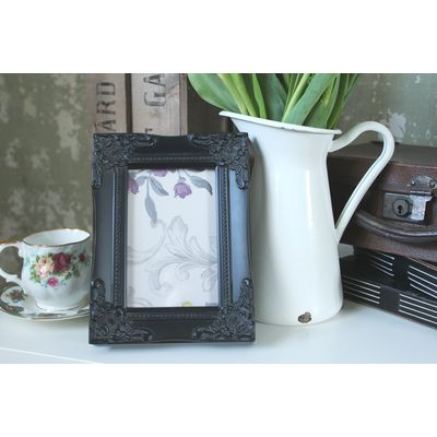 detailed black picture frame 4x6