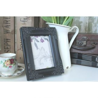detailed black picture frame 5x7