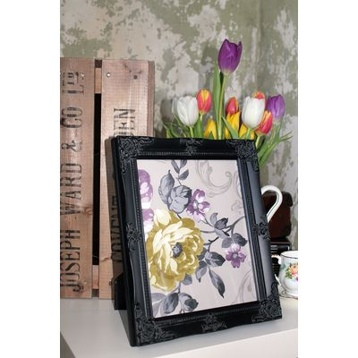 detailed black picture frame 8x10