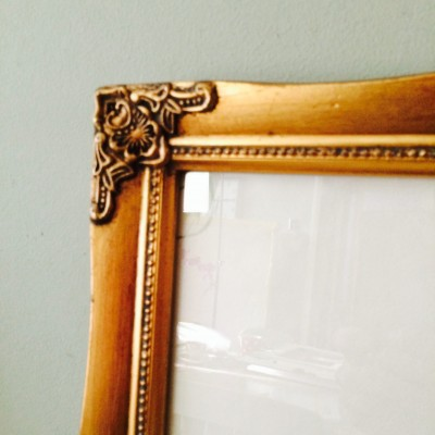 detailed gold picture frame 10x12