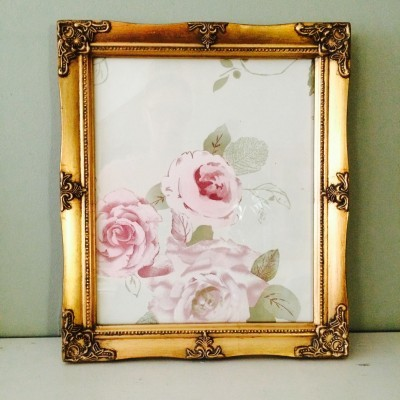 detailed gold a4 picture frame