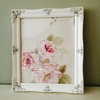 detailed ivory picture frame 10x12