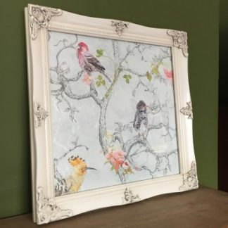 detailed ivory picture frame 12x12