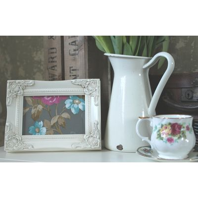 detailed ivory picture frame 4x6