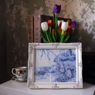 detailed ivory picture frame 8x10