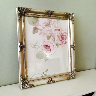 detailed silver picture frame 10x12