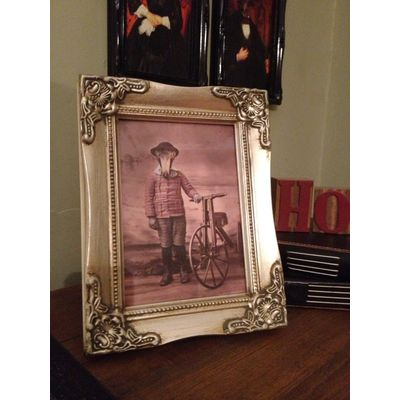 detailed silver picture frame 5x7
