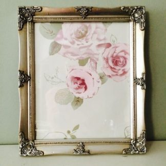 detailed silver a4 picture frame