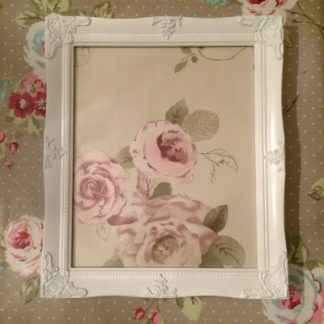 detailed white picture frame 10x12