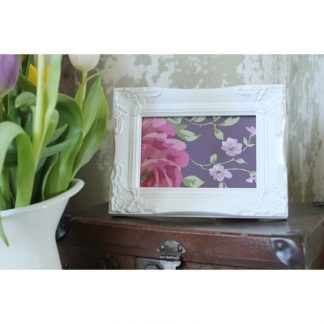 detailed white picture frame 5x7