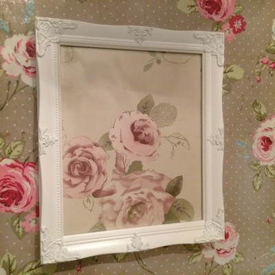 detailed white a4 picture frame