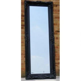 monaco ornate black mirror 24x84