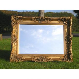 monaco ornate gold mirror 24x36