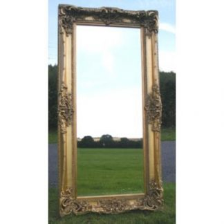 monaco ornate gold mirror 24x60