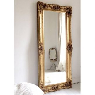 monaco ornate gold mirror 24x84