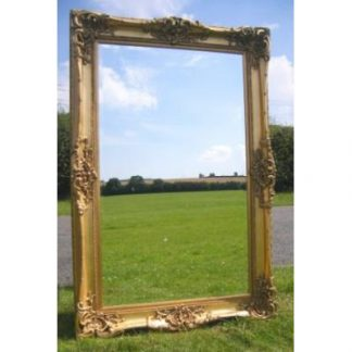 monaco ornate gold mirror 36x60