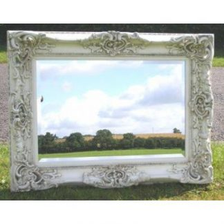 monaco ornate ivory mirror 24x36