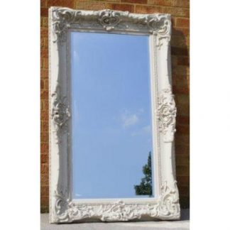 monaco ornate ivory mirror 24x48