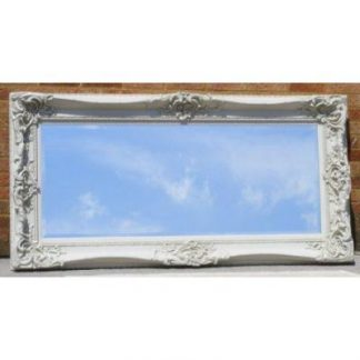 monaco ornate ivory mirror 24x60