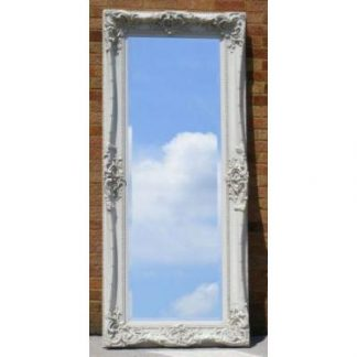 monaco ornate ivory mirror 24x84