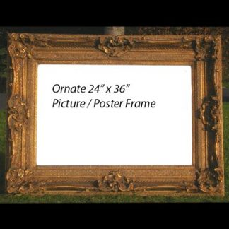 rococo ornate gold picture frame 24x36
