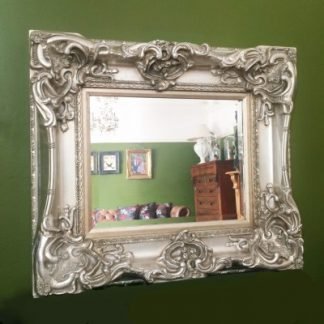monaco ornate silver mirror 16x20