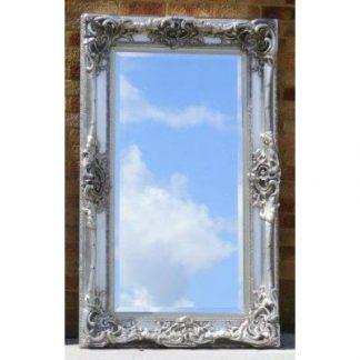 monaco ornate silver mirror 24x48