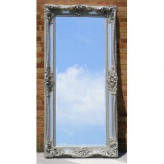 monaco ornate silver mirror 24x72