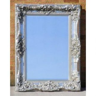 monaco ornate silver mirror 24x36