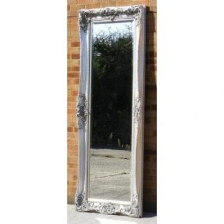 monaco ornate silver mirror 24x84