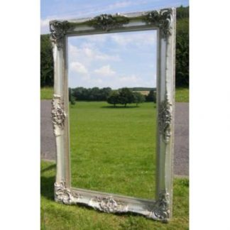 monaco ornate silver mirror 36x60