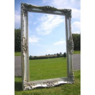 monaco ornate silver mirror 36x72