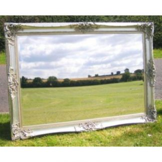 monaco ornate silver mirror 48x72