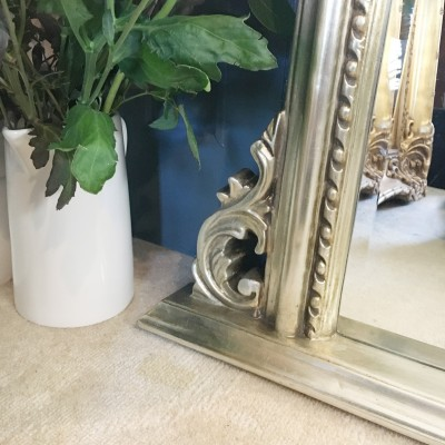 lucy arch champagne overmantle mirror