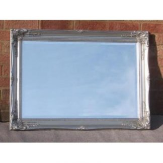 ornate classic silver mirror 20x30